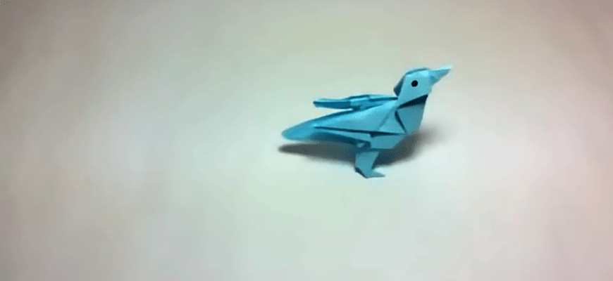 Оригами птица Twitter