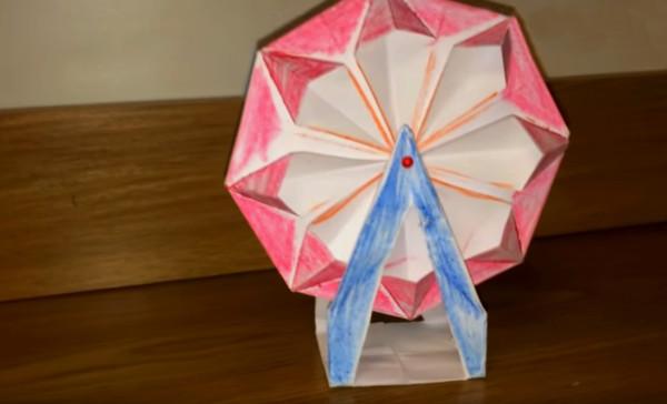 Оригами колесо обозрения
