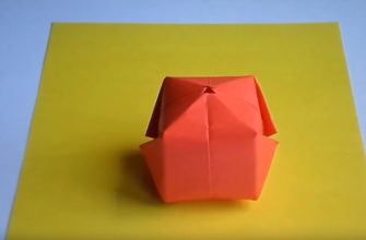 Оригами водяная бомбочка