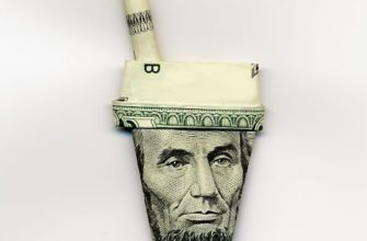 Оригами стакан из долларовой купюры