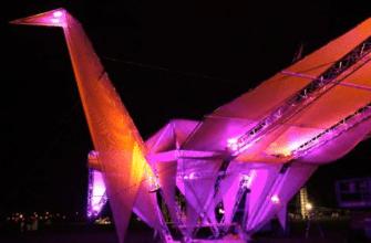 Лебедь оригами в Южной Калифорнии