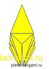 Базовая форма оригами лягушка