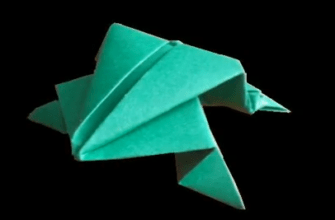 прыгающая оригами лягушка