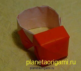 Оригами кольцо из бумаги