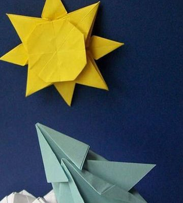 Оригами солнце