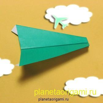 Схема бумажного самолетика