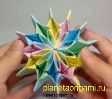 оригами фейерверк