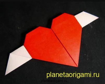 Сердечко из бумаги своими руками