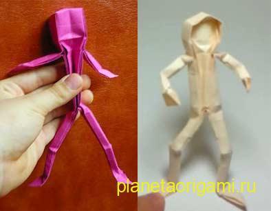 человек оригами из бумаги