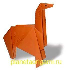 лошадь из бумаги схема