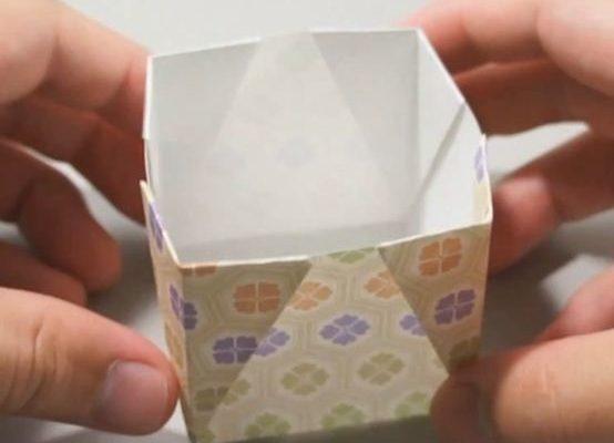 бумажная коробочка схема