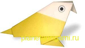 традиционная птица оригами