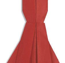 Вечернее оригами платье