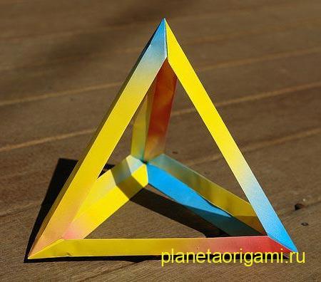 Тетраэдр из бумаги схема