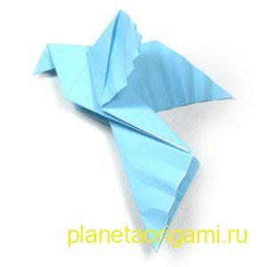голубь мира из бумаги