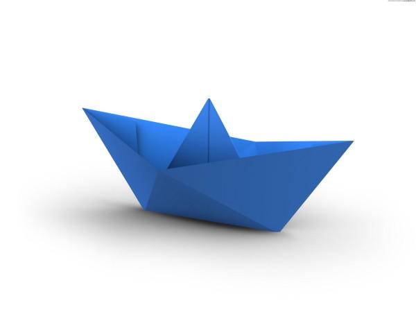 Корабль оригами