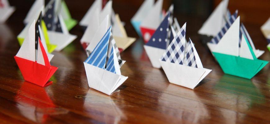 Оригами кораблики