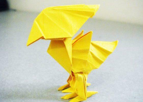 Птичка из бумаги