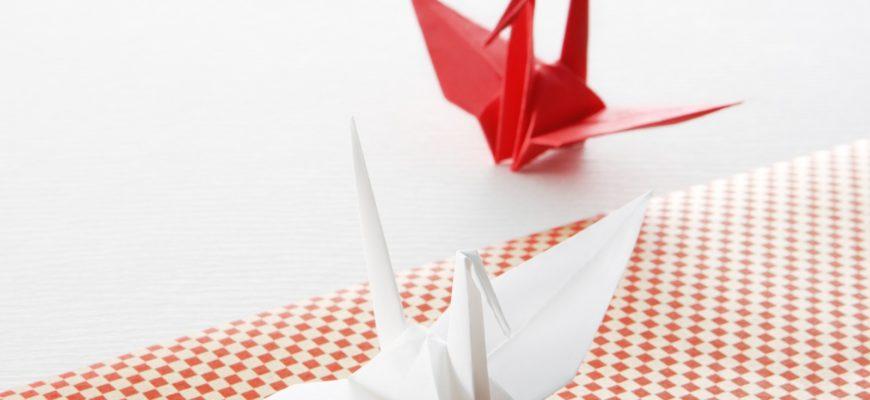 Гигантский журавль оригами