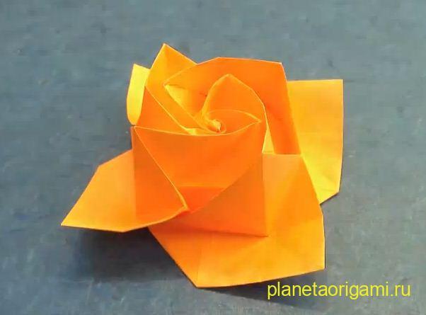 розочка оригами