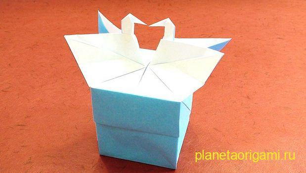 подарочная коробка оригами