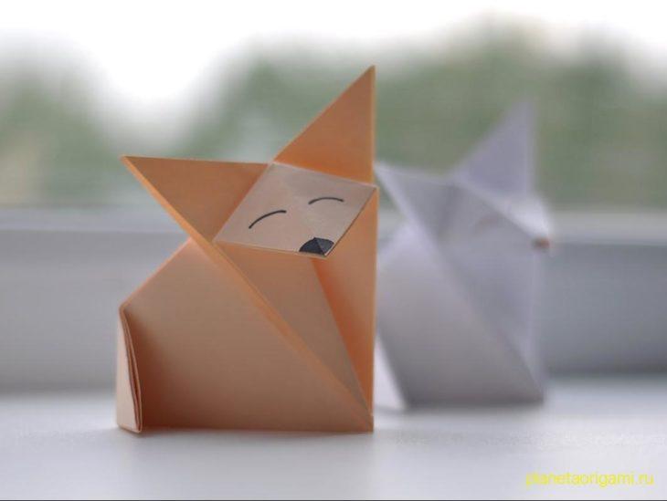 Лисенок оригами