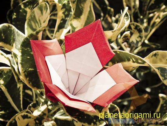 оригами цветочек