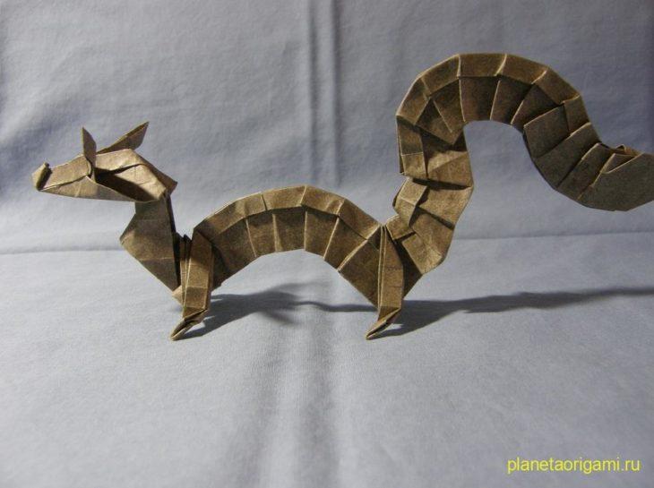 Восточный дракон оригами