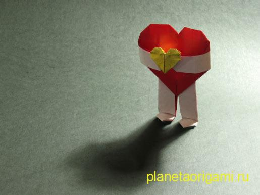 Сердце-валентинка