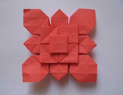 Лист клевера из бумаги