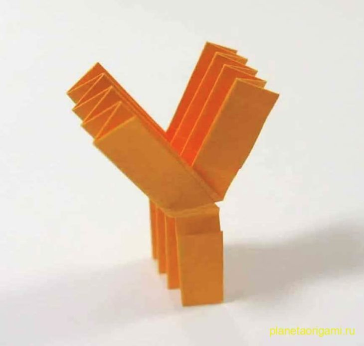 Origami Letter 'Y'