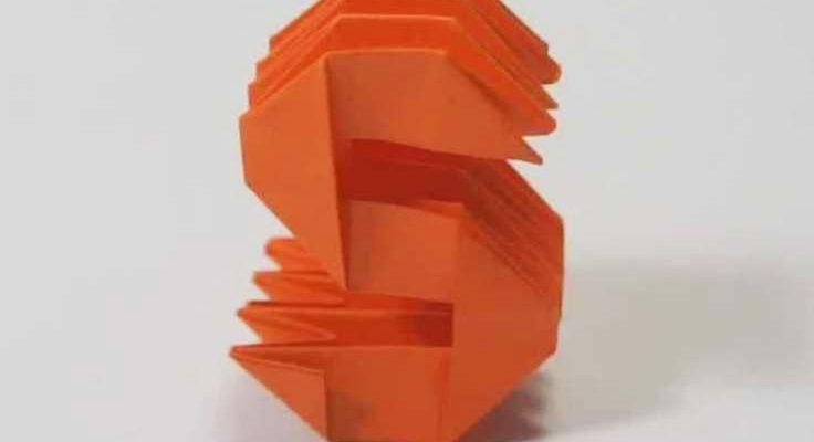 Origami Letter 's'