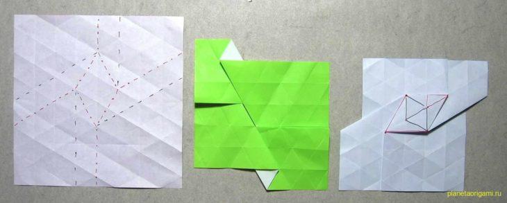 Origami Tessellation Basics Rhombus Twist