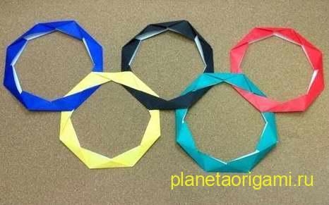 олимпийские кольца из бумаги