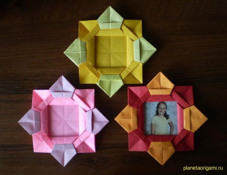 Оригами 4 в открытках, поздравление выздоровлением
