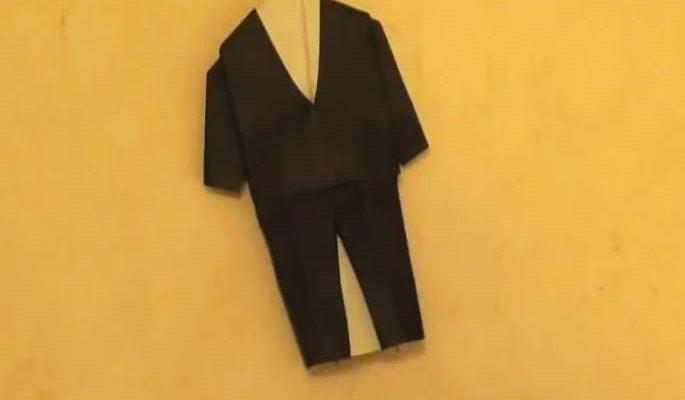 бумажный мужской костюм