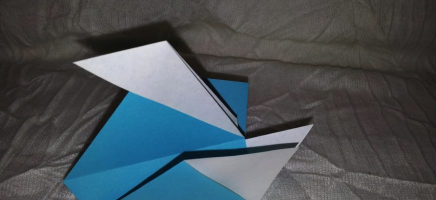 простая утка из бумаги