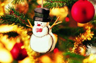 Новогодняя игрушка на елке