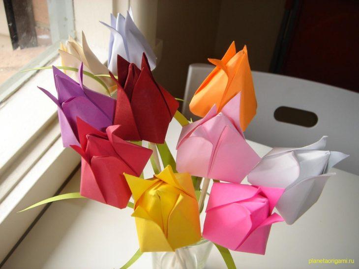 Оригами на 8 марта
