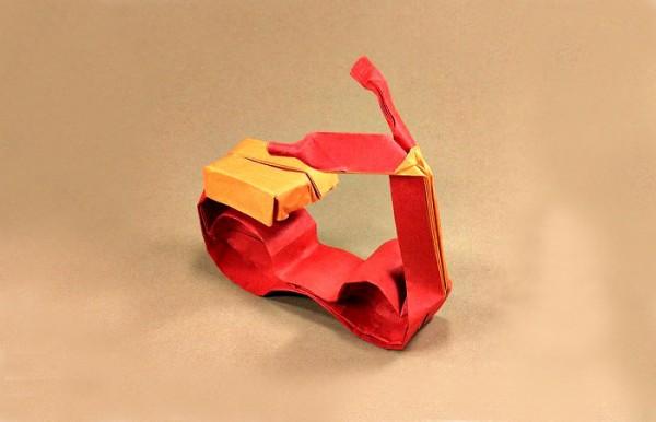 Скутер оригами по схеме Gerwin Sturm