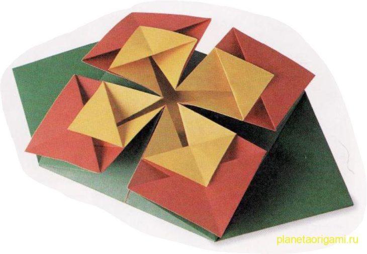 Оригами бутон
