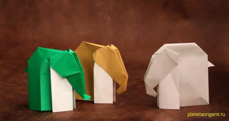 Оригами слоны от Петера Штайна