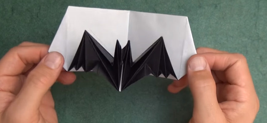 Pop-up открытка с летучей мышью от Джереми Шейфера