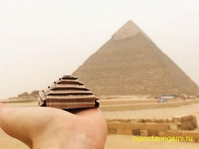 Оригами пирамида