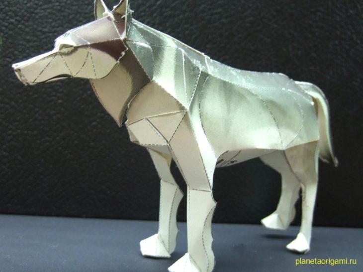 Волк оригами