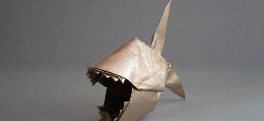 оригами пиранья