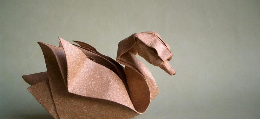 Утка оригами
