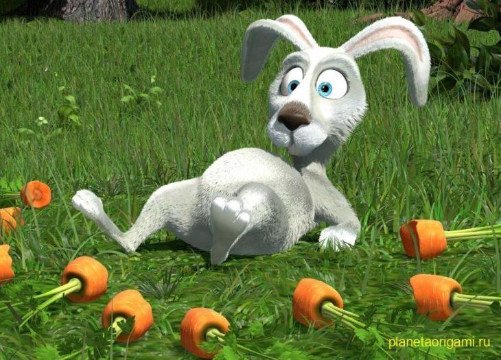 Кролик из мультика