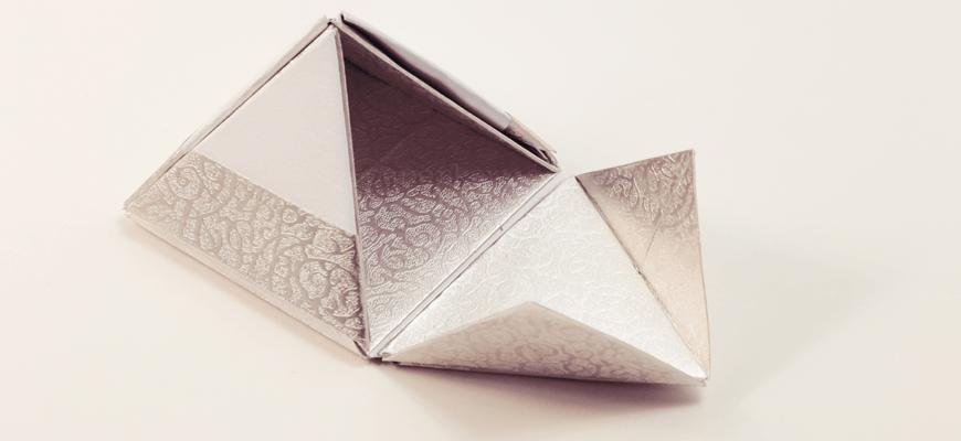 Коробочка-пирамидка из бумаги