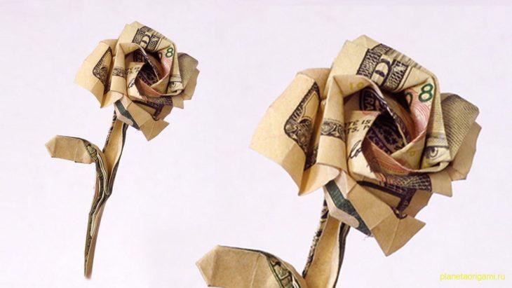 Роза из доллара